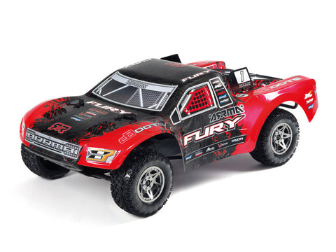 FURY BLS (RED) SHORT COURSE TRUCK WITH BATTERY & CHARGER