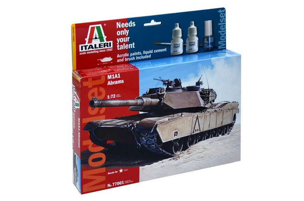 Italeri 1/72 Model Set M1 Abrams *Aust Decals*