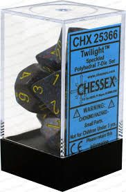Chessex Polyhedral Dice - 7D Speckled Twilight Set