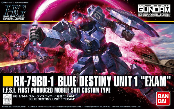 "Bandai 1/144 HGUC RX-79BD-1 Blue Destiny Unit 1 ""Exam"" E.F.S.F. First Produced Mobile Suit Custom Type"