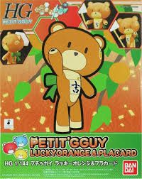 Bandai 1/144 HG Petit Gguy Lucky Orange and Placard