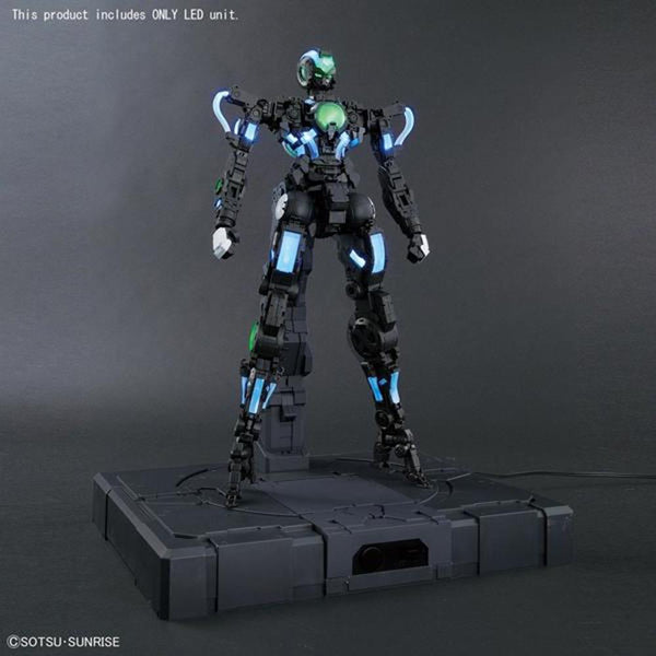 Bandai 1/60 PG LED Unit for Gundam Exia installed in assembled model