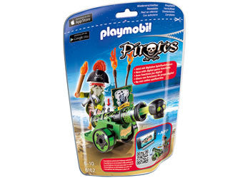 Playmobil Green Interactive Cannon with Pirate Captain