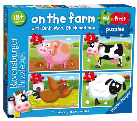 Ravensburger 2/3/4/5pc On the Farm My First Puzzle