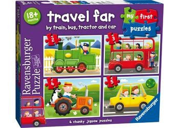 Ravensburger 2/3/4/5pc Travel Far My First Puzzle