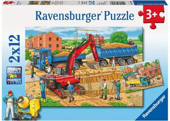 Ravensburger 2x12pc Busy Construction Site Puzzle