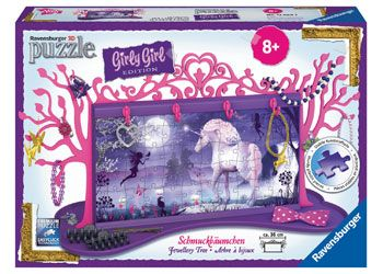 Ravensburger 108pc 3D Unicorn Jewelery Tree Girly Girl