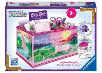 Ravensburger 216pc 3D Unicorns Box Girly Girl