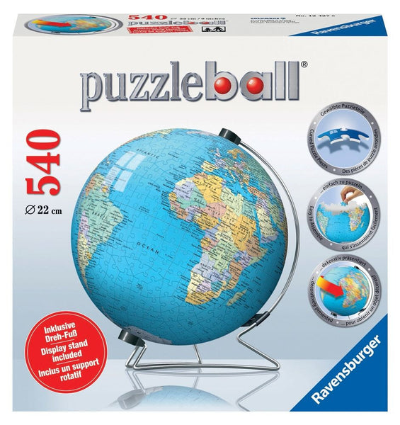 Ravensburger 540pc 3D World Globe PuzzleBall