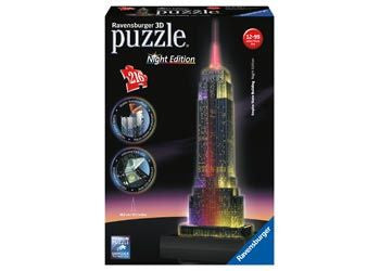 Ravensburger 216pc 3D Empire State at Night Puzzle