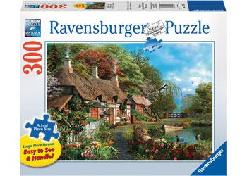 Ravensburger 300pc Cottage on a Lake Lge Form Puzzle