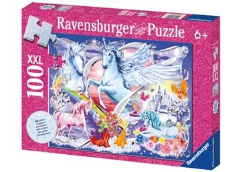 Ravensburger 100pc Amazing Unicorns Glitter Puzzle Brisbane CBD City Hobbies and Toys