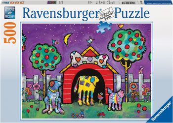 Ravensburger 500pc Dogs at Twilight Puzzle Brisbane CBD City Hobbies and Toys