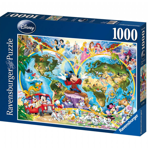 Ravensburger 1000pc Disney World Map Puzzle