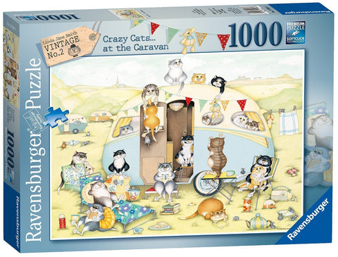 Ravensburger 1000pc Crazy Cats Caravan Puzzle