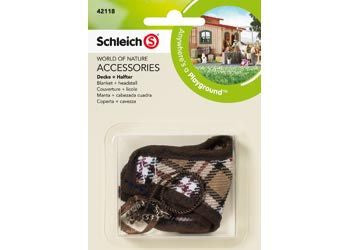 Schleich - Blanket + Headstall Brown