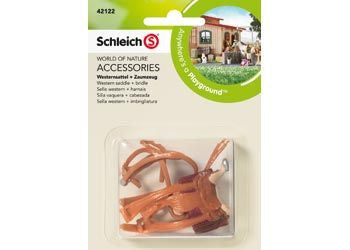 Schleich - Western Saddle + Bridle