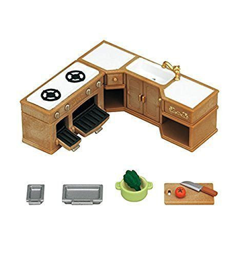 Sylvanian Families -  Kitchen Stove, Sink and Counter Set