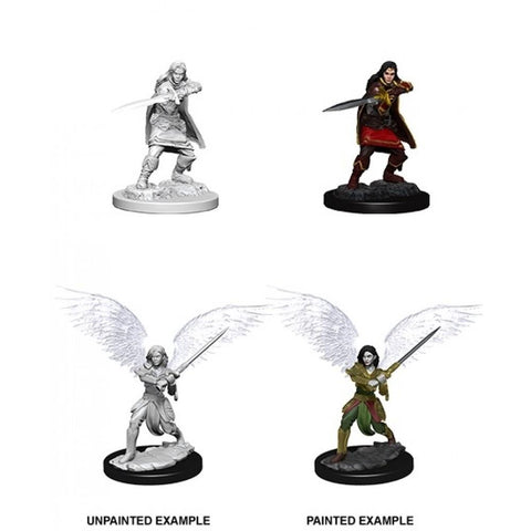 D&D Aasimar Female Fighter Nolzurs Marvelous Miniatures Unpainted Minis