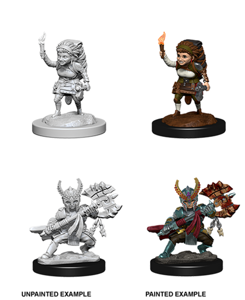 D&D Halfling Female Fighter Nolzurs Marvelous Miniatures Unpainted