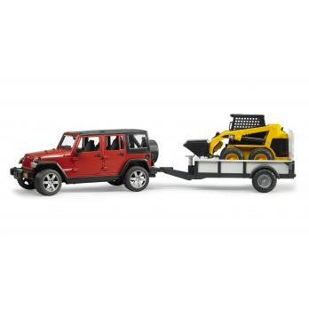 Bruder 1:16 Jeep Wrangler Rubicon w/ Tralier + CAT Skid Steer