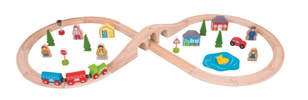 Bigjigs - Figure of Eight Train Set - 40pcs