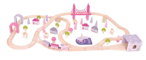 Bigjigs - Fairy Town Train Set - 75pcs