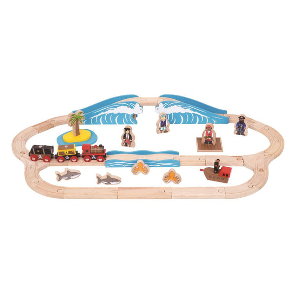 Bigjigs - Pirate Train Set - 42pcs