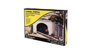 Woodlands Scenic Tunnel Portal One Concrete double track