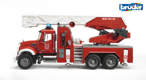 Bruder 1:16 MACK Granite Fire engine with ladder, waterpump and L & S Module