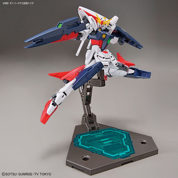 Bandai 1/144 HGBD Gundam Shining Break action pose on Diver stand