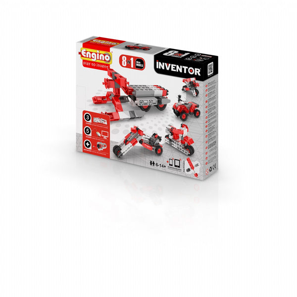 Engino Inventor Series 8 Models of Motorbikes