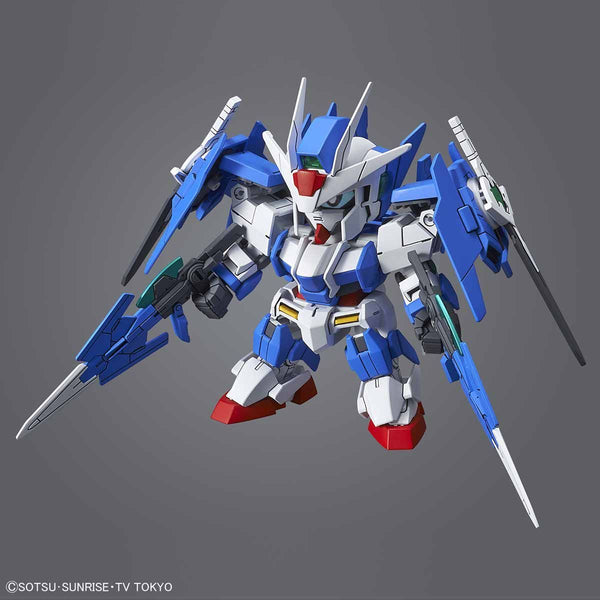 Bandai SD Gundam Cross Silhouette OO Diver Ace action pose with weapons