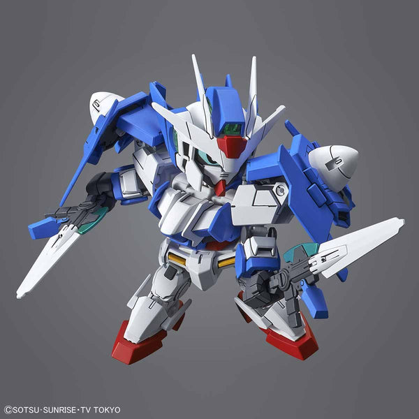Bandai SD Gundam Cross Silhouette OO Diver Ace action pose 1