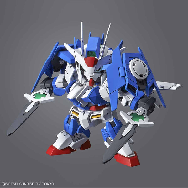 Bandai SD Gundam Cross Silhouette OO Diver Ace action pose with shield