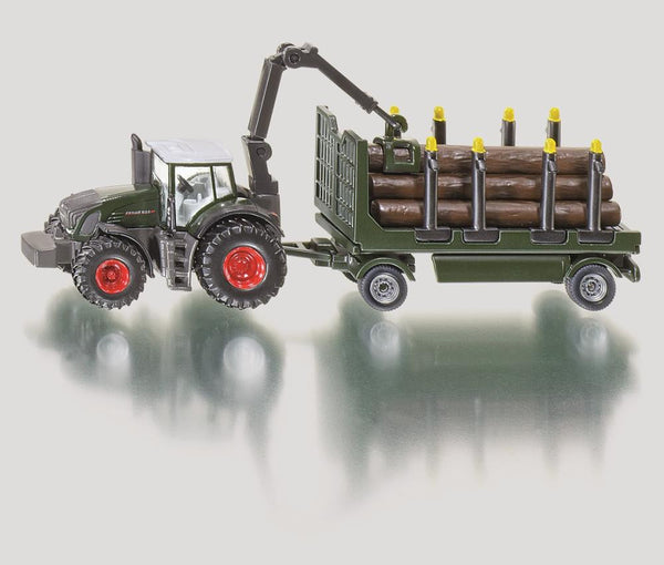 Siku 1/87 Tractor with Forestry Trailer