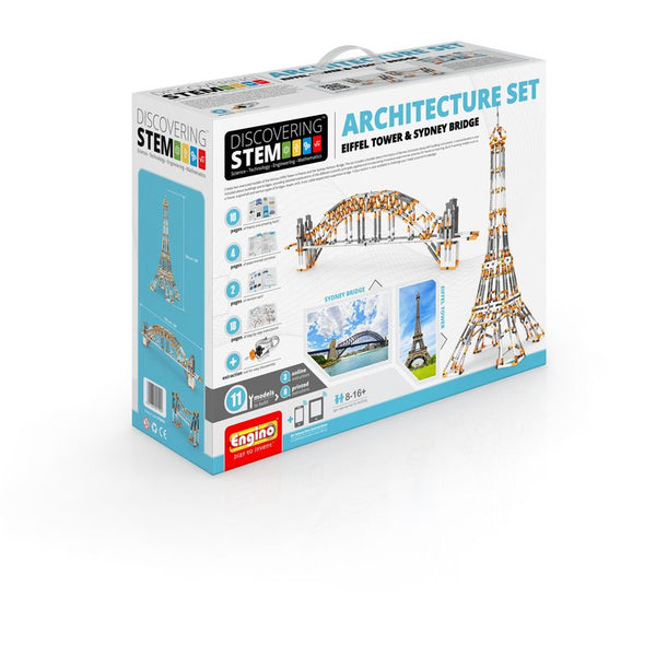 Engino S.T.E.M Architecture Set Eiffel Tower & Sydney Harbour Bridge
