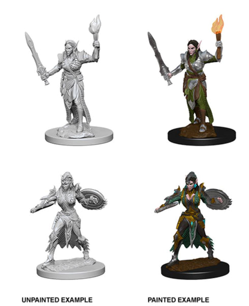 D&D Elf Female Fighter Deep Cuts Pathfinder Battles Unpainted Minis