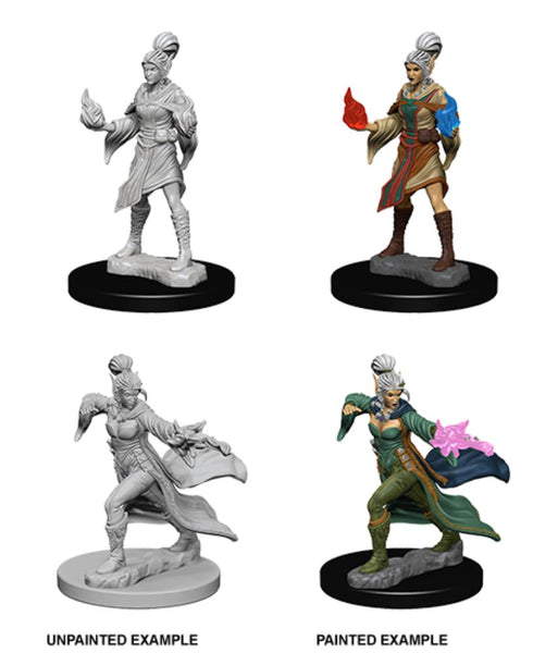 D&D Elf Female Sorcerer Pathfinder Deep Cuts Unpainted Minis