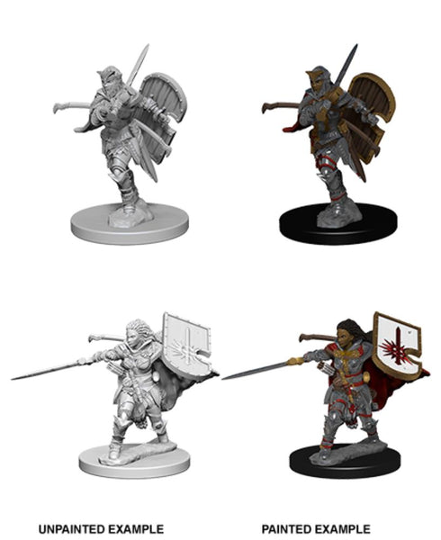 D&D Human Female Paladin Deep Cuts Pathfinder Battles Unpainted Minis