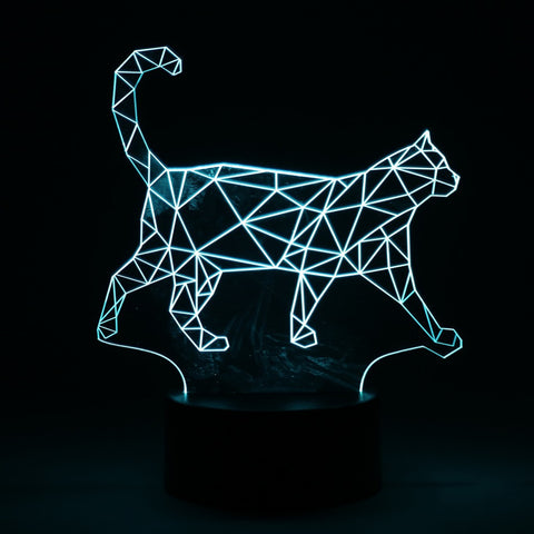 Cat Walking LED 3D Table Lamp