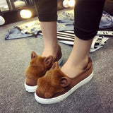 Fluffy Suede Cat Ears Leisure Shoes