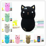2016 Newest 3D Cat Soft Silicone Case Cover for iPhone 5 5S 5C C 4 4S SE 6 6S Plus