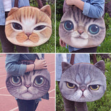 3D Cat Face Handbag