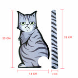Cat Moving Tail Stickers Reflective Car Window Wiper
