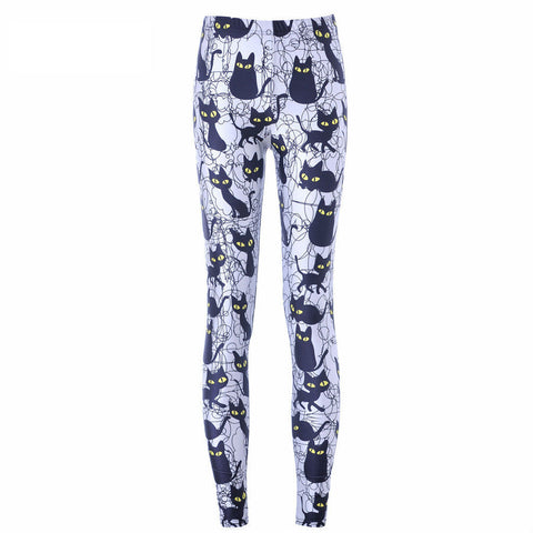 Cartoon Black Cat Leggings Pant