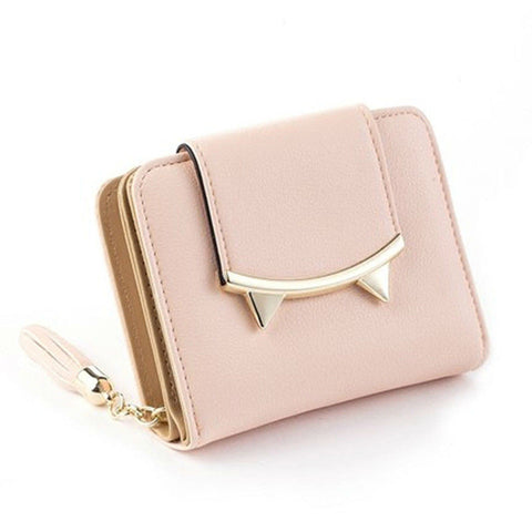 5 Colors Cat Lady Leather Wallet