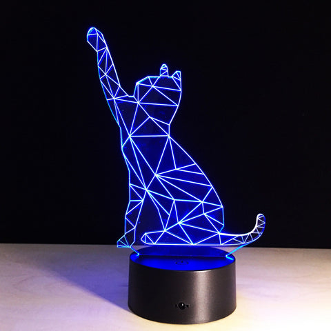 Cat LED 3D Table Lamp