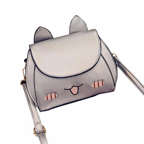 Cat Messenger Hobo Crossbody Bag