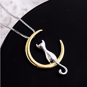 Cat On The Moon Necklace FREE